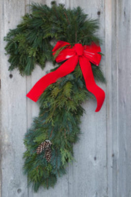 """34"""" Candy Cane Holiday Wreath"""